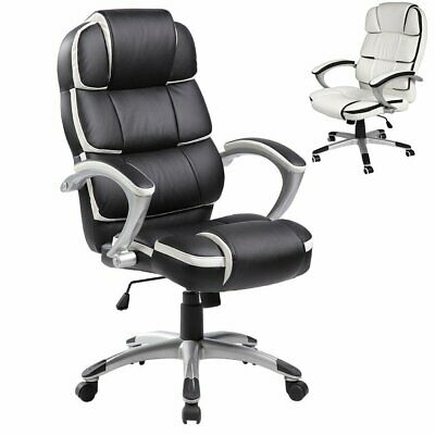 Office Computer Desk Gaming Chair PU Leather Thick Padded Home Swivel Executive