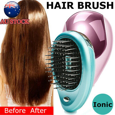 Portable Electric Ionic Hairbrush Takeout Mini Ion Hair Brush Comb Massage Small