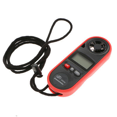 Digital LCD Anemometer Wind Speed Tester Air Flow Velocity Meter Thermometer