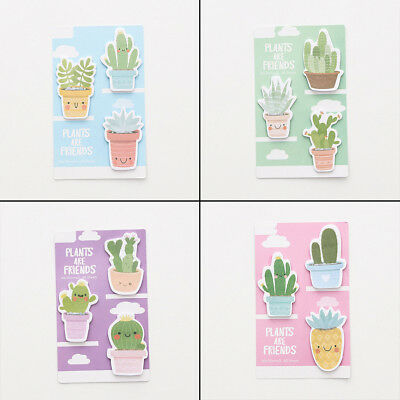 Cute Smile Cactus Sticky Notes Notebook Memo Pad Bookmark Paper Sticker Notepad