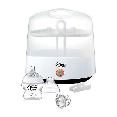 Tommee Tippee Electric Sterilizer - Steam Baby Bottle Chemical Free White NEW