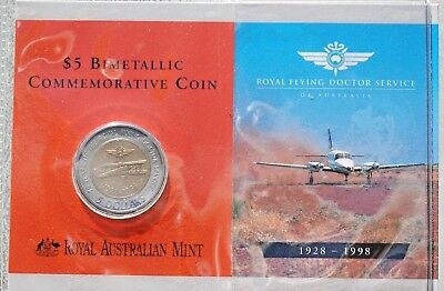 1998 Five Dollar--Royal Australia Flying Doctor Service--Free Postage