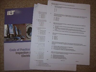 3 x PAT Testing MOCK EXAM Papers - Edition 4 - Portable Appliance Testing (PDF)