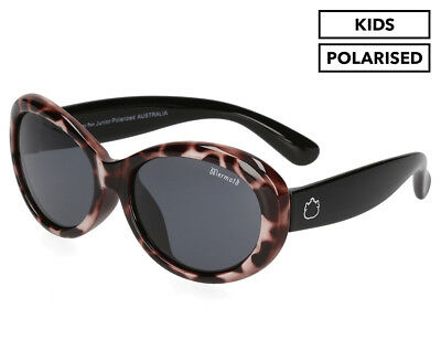 Ugly Fish Kids' PKM 577 Polarised Sunglasses - Cheetah Print/Brown/Smoke