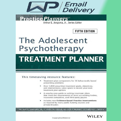 The Adolescent Psychotherapy Treatment Planner⚡E-B00K By Email⚡