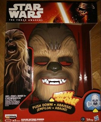 NEW Star Wars The Force Awakens HASBRO Chewbacca electronic Mask voice A86R