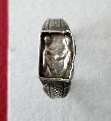 """Genuine roman silver ring with """"shaking hands"""", 2nd/3rd cent"""