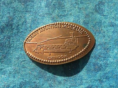 CHINOOK ARMY AVIATION COPPER Elongated Penny Pressed Smashed 28