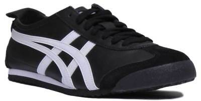 Onitsuka Tiger Mexico 66 Womens Soft Leather Trainer In Black White Size UK 3 -
