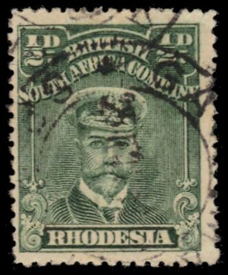 "RHODESIA 119e (SG188) - King George V ""Admiral"" 1913 Yellow Green (pa81924)"