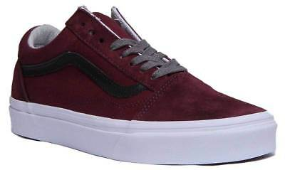 67b5739c8d Vans Jersey Lace Old Skool Women Suede Canvas Port Royale Black Trainers UK  Size