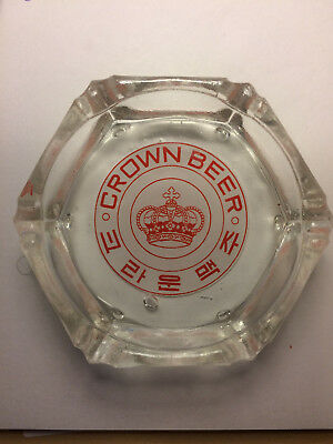 Crown Beer ashtray
