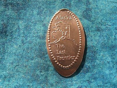 ALASKA THE LAST FRONTIER COPPER Elongated Penny Pressed Smashed 28