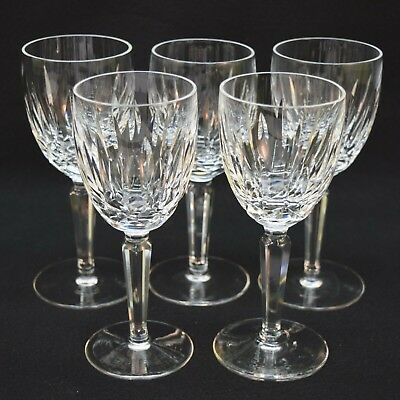 Set of 5 Waterford Crystal 'Kildare' Claret Wine Glasses