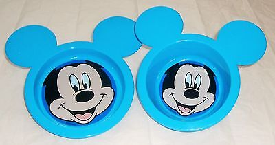 Disney Boy Mickey  Mouse 2 Piece Shaped Mealtime Set 6 Mths + New Bpa Free