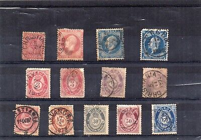 Norway x 12 -  used old stamps - unchecked