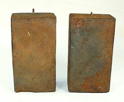 PAIR of ANTIQUE AMERICAN 8 DAY WEIGHT DRIVEN CLOCK WEIGHTS - SP03
