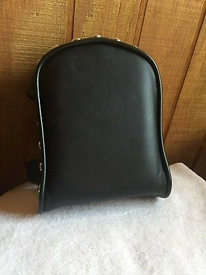Leather Slip-Over Sissy Bar Pad with Studs for Harley Davidson and Customs