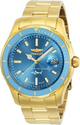 New Mens Invicta 25813 Pro Diver Swiss Quartz 44mm Stainless Steel Watch