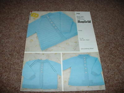 Baby's Coats - Hayfield Four Ply Knitting Pattern