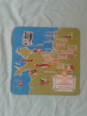 Extra Large Greenall Whitley Brewery Map Beer Mat