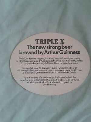 GUINNESS TRIPLE X LARGE BEER MAT  BBCS No. 376