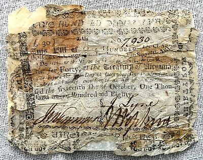 Colonial Virginia 1780 - 30 Pound Virginia Currency