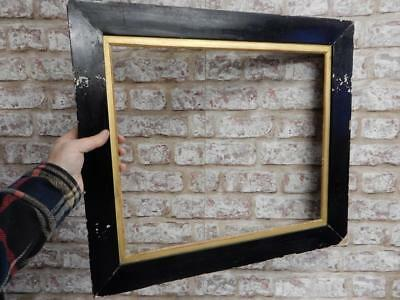 """really old picture frame antique black fits 19 inch X 16"""" painting"""
