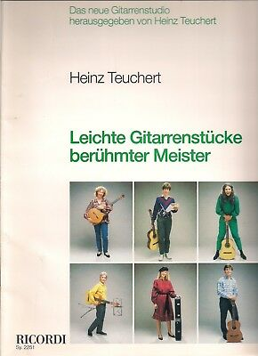 Guitar Music, Leichte Gitarrenstucke, Easy Pieces from famous composers