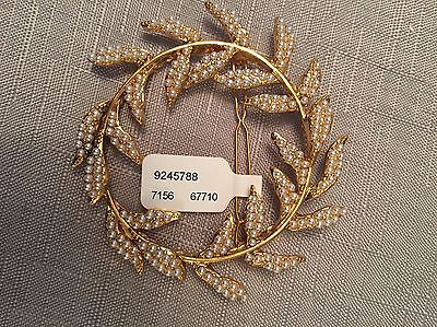 Lovely Gold And Fresh Water Pearl Hair Slide /wrap Clip RRP £32