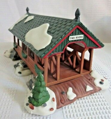 DEPT 56 New England Heritage Village! Mill Creek Crossing covered bridge! Sale!