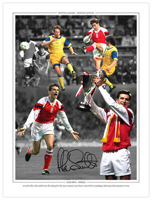 *LOW PRICE* HAND SIGNED 16x12 MONTAGE ARSENAL : ALAN SMITH