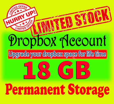 Dropbox Upgrade - dropbox 18gb lifetime account [ Limited Offer ]