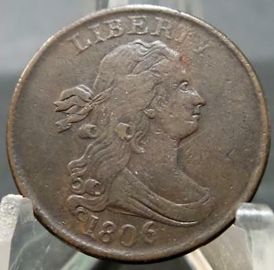 1806 Half Cent Piece VF