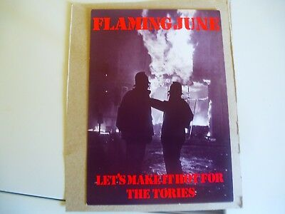 Riots In London Flaming June Lets Make It Tough For Tories Political Postcard