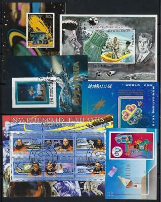 FS9781 6 Different Souvenir Sheets Space Land Rover Capsule Recovery Astronauts