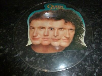 QUEEN, Freddie Mercury, Brian May, Roger Taylor, BREAKTHRU UNCUT PICTURE DISC
