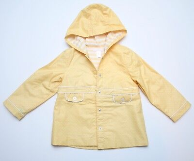 Girls Janie and Jack Yellow Raincoat Size 4T 5T *READ*
