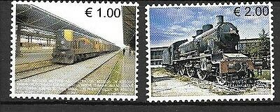 KOSOVO Sc 90-91 NH issue of 2007 - TRAINS