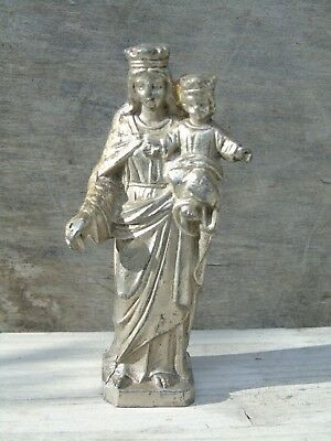 FRENCH VINTAGE RELIGIOUS STATUE ICON CHRISTIANITY sml FIGURINE St ANNE & MARY
