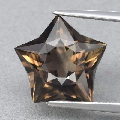 Top! VVS 4.76ct 12.4x12mm Star Natural Smoky Quartz, Brazil