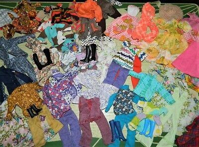 Large Vtg Lot 60's Mid Century BARBIE KEN Homemade Clothes Fun & Far Out 57 Pcs