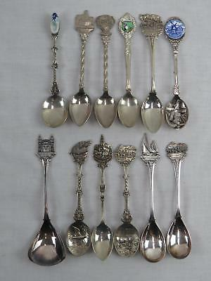 Lot of 12 Various Souvenir Spoons From Various USA Locations (670)