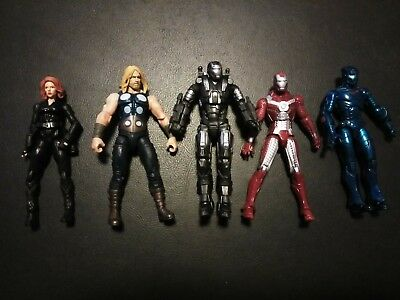 AVENGERS Hasbro Marvel Universe Figures LOT of 5 Thor iron Man black widow