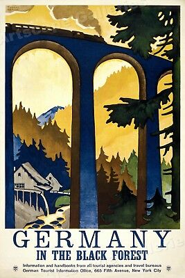 1930 Germany Black Forest  - Vintage Style European Travel Poster - 16x24