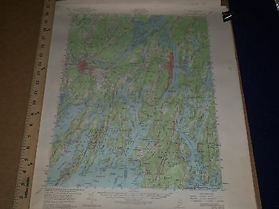 1950's U.s. Dept Of Interior & Army Engineers Canada + Maine Map Lot Of 13- O 3E