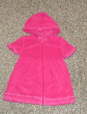 Wave Zone Toddler Girls Dark Pink Terry Swim Suit Cover Up Size 3T EUC