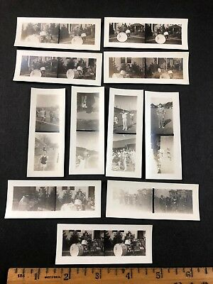 Cool Lot of Mini Vtg Antique Photos, Teen on Drums, Running Track, Archery Bow