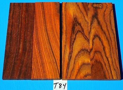 4 Pieces Cocobolo Rosewood Knife Blank Handle Grips~Exotic Wood Lumber