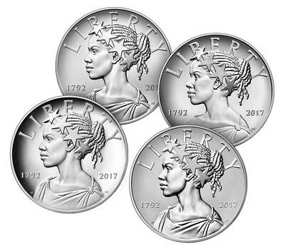2017 American Liberty 225th Anniversary Silver Four-Medal Set (17XD)